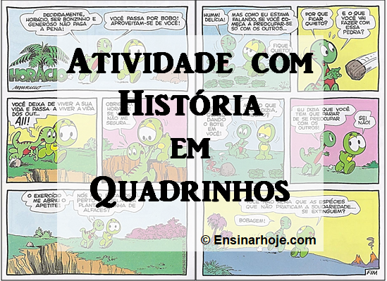 Atividade com História em Quadrinhos - Horácio