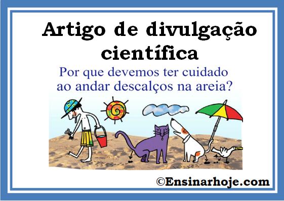 Artigo de divulgação científica - Texto e Atividades