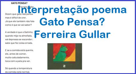 Interpretação do poema Gato Pensa? de Ferreira Gullar