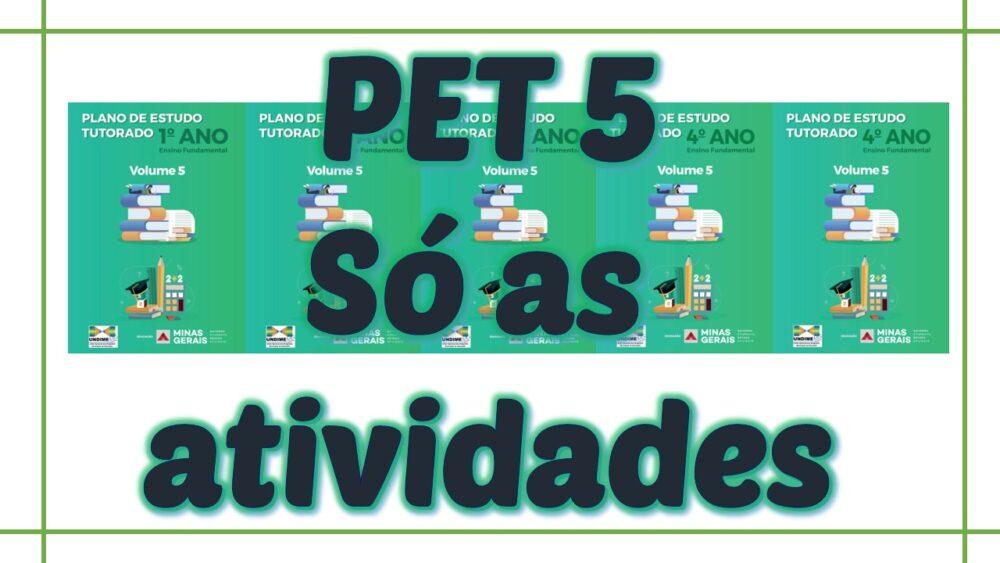 PET 5 - Só as atividades - 1º ao 5º ano